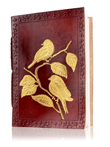 Libreta de cuero repujado hecha a mano